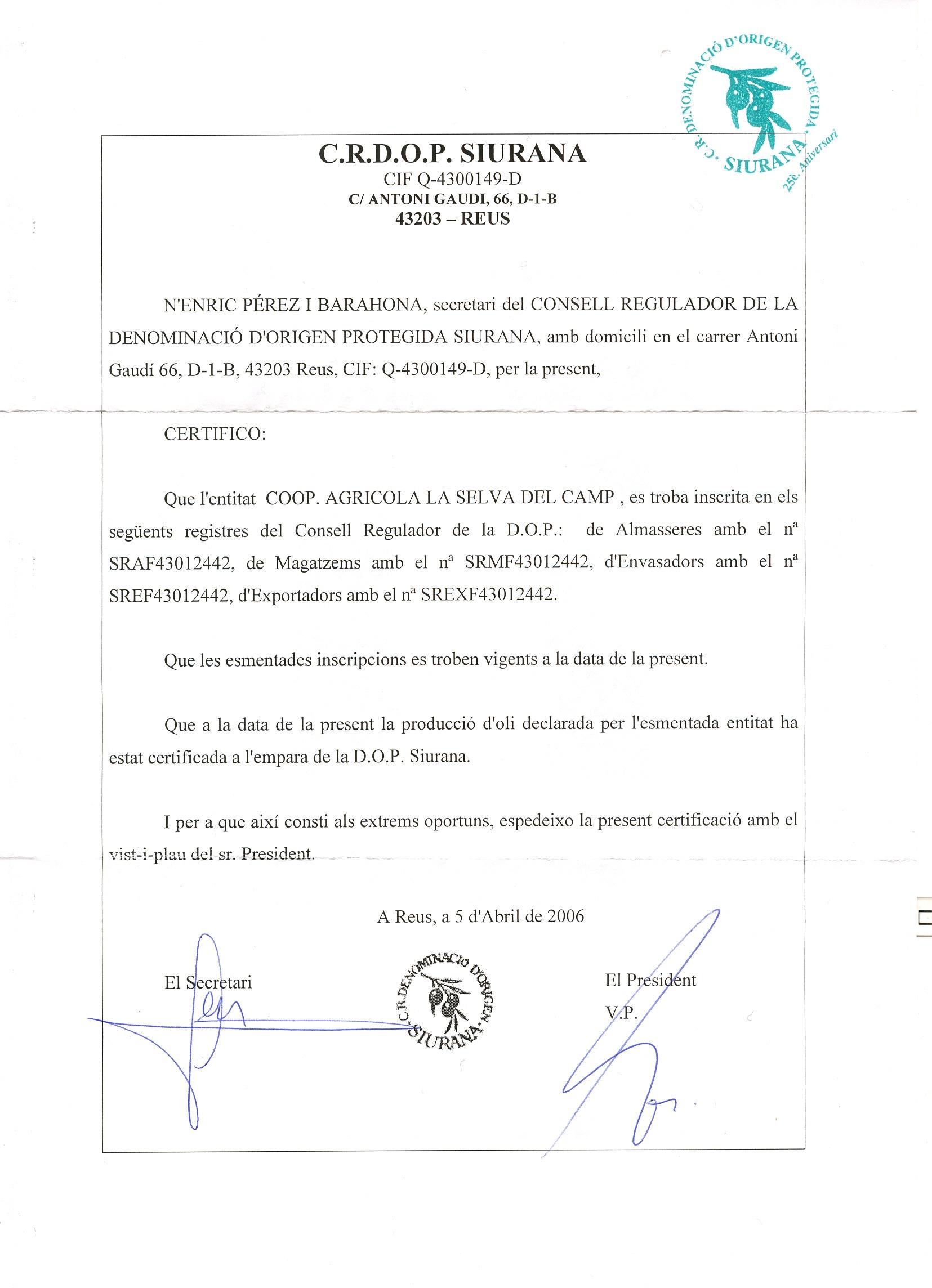 Certificat-DOP-SIURANA